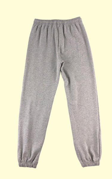 Cotton Sweatpants in Heather Grey
