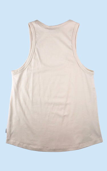 Classic Scoop Neck Tank in Off-White