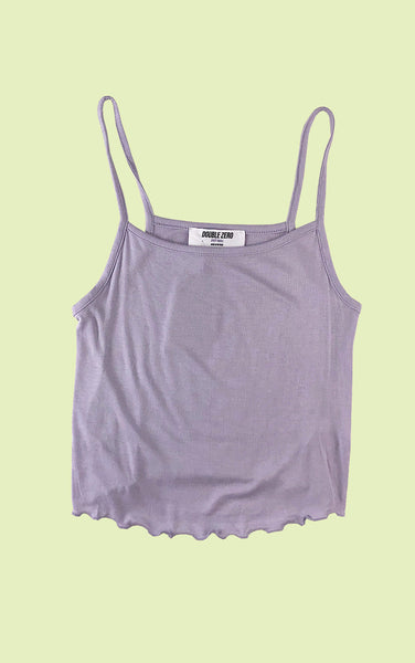 Lettuce Hem Crop Camisole in Lilac