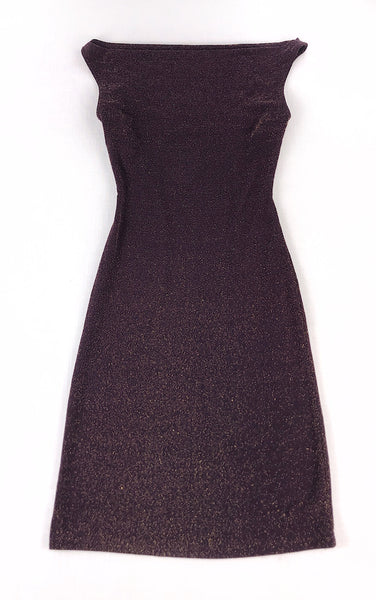 Sparkly Cowl Neck Dress