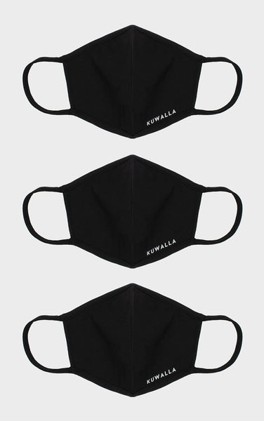 3-Pack Masks Black