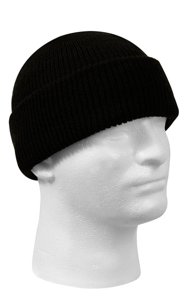Wool Watch Cap Black