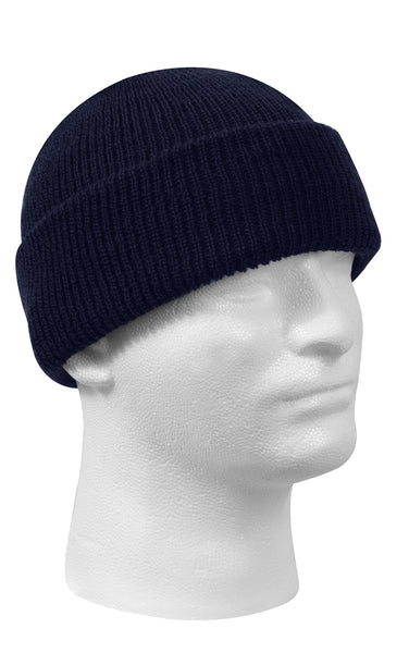 Wool Watch Cap Navy Blue
