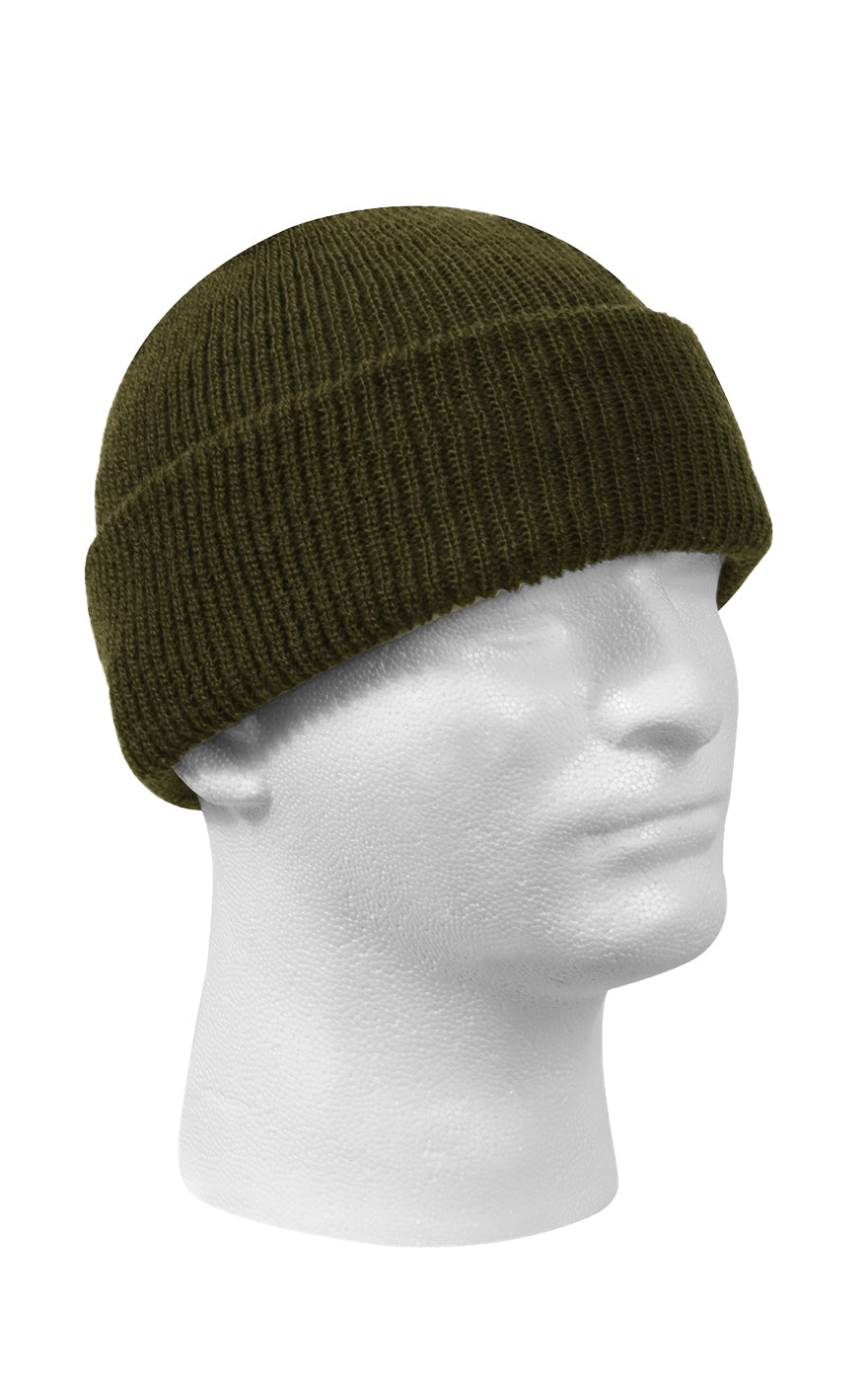 Wool Watch Cap Olive Green