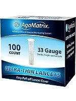 AgaMatrix Ultra-Thin Lancets 33G