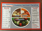Laminated Healthy Living Diabetes Nutrition Placemat