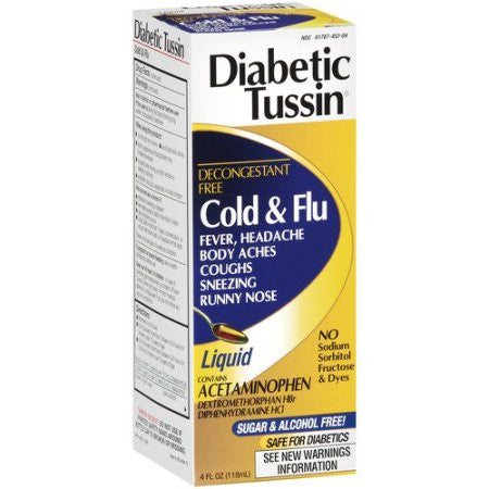 Diabetic Tussin Cold & Flu