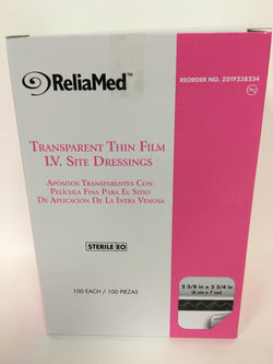 ReliaMed Thin Film I.V. Site Dressings