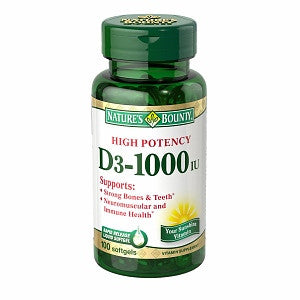 Nature's Bounty Vitamin D3 1000 IU 100 count