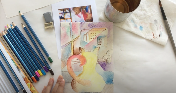 Art Kit: Drawing with Watercolor Pencils, Inspired by Marc Chagall