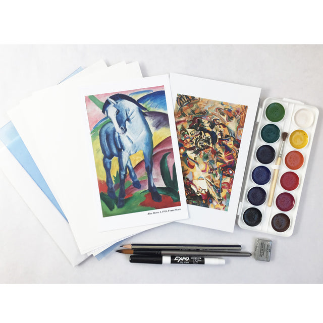 Art Kit: Drawing & Painting with Watercolors, Inspired by German Expressionism