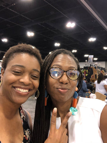 Chimere & Fluff at Taliah Waalid Natural Show ATL 2018