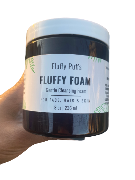 wash cleanse face fluffy foam