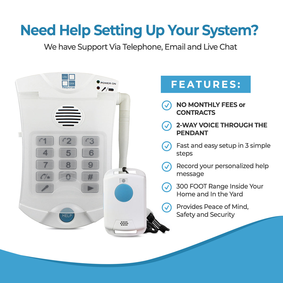 Medical Alert System Self Monitored Llr 500 2 Way Voice