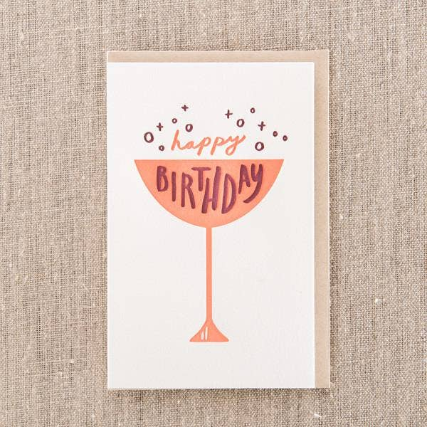 Pike Street Press - Happy Birthday Cup Greeting Card - Notecard - Stomping Grounds