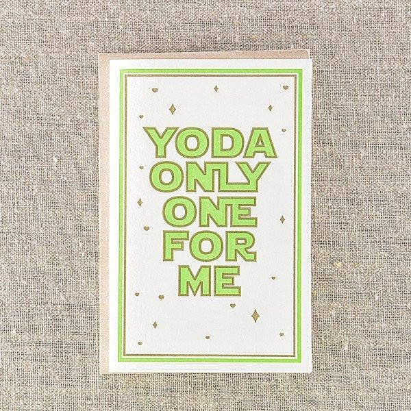 Pike Street Press - Yoda Only One For Me Card - Notecard - Stomping Grounds