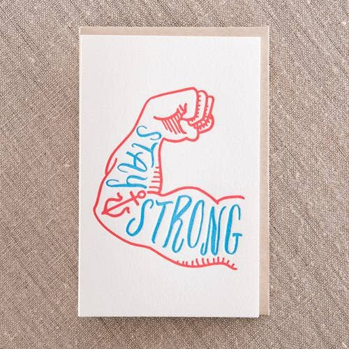 Pike Street Press - Stay Strong Card - Notecard - Stomping Grounds