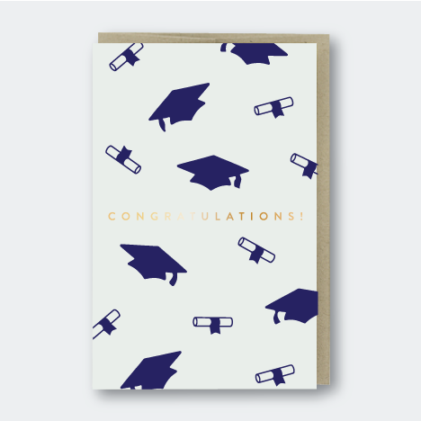 Pike Street Press - Congrats Grad Caps - Notecard - Stomping Grounds