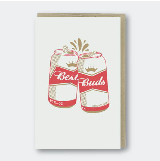 Pike Street Press - Best Buds Beers - Notecard - Stomping Grounds