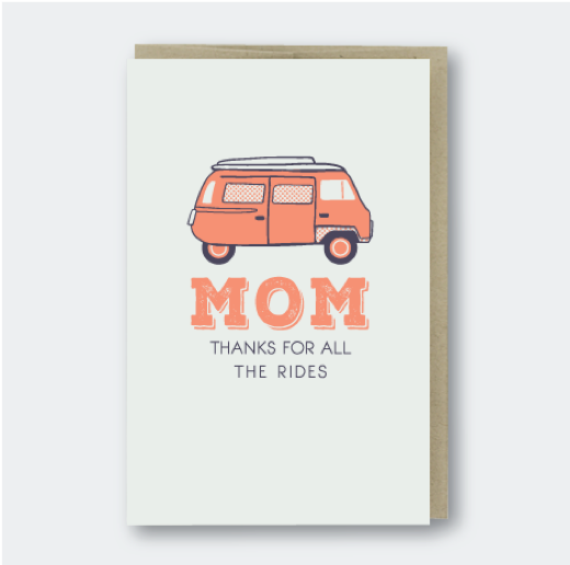 Pike Street Press - Mom Thanks for The Rides - Notecard - Stomping Grounds