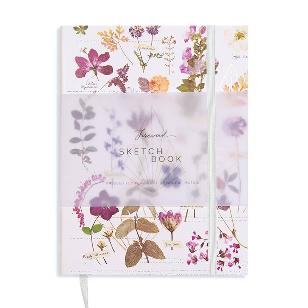 PAPAYA - Faux Leather Sketchbook- Love Garden