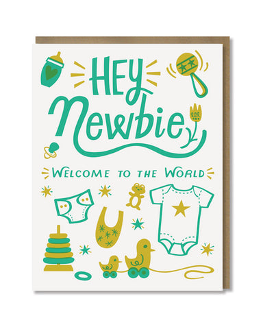 Paper Parasol Press - Hey Newbie Card