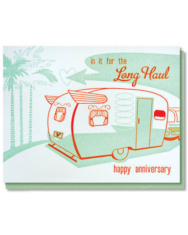 Paper Parasol Press - Long Haul Anniversary Card