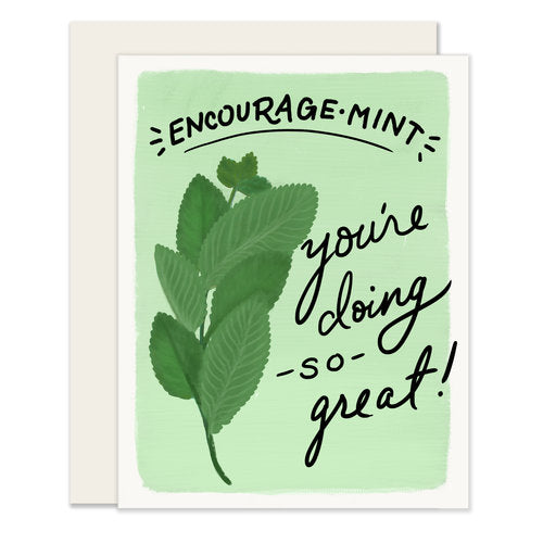 Encourage-Mint Card - Notecard - Stomping Grounds