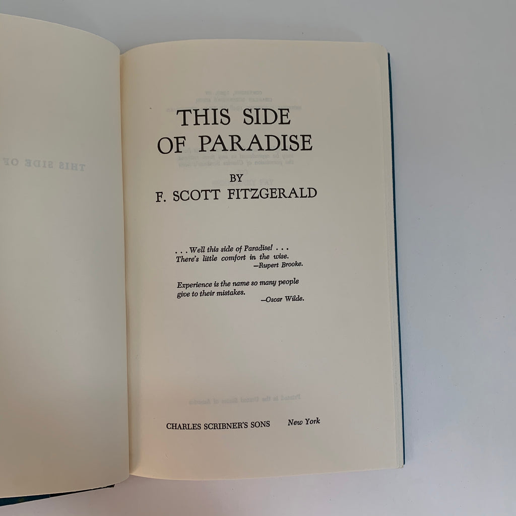 Vintage Book- This Side of Paradise by F. Scott Fitzgerald