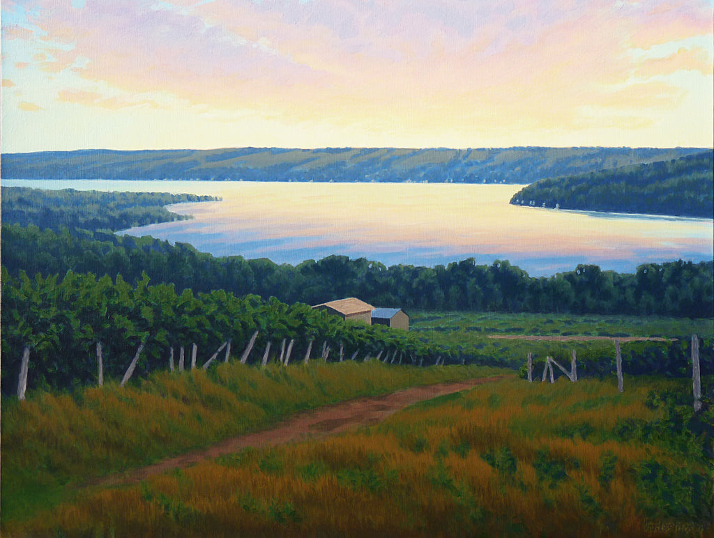 Keuka Lake and Bluff Point from McGregor's Vineyard - Print - Chaz Moser - Stomping Grounds