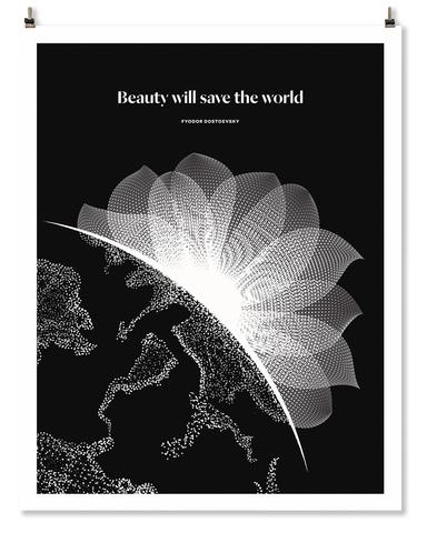 Literary Art Print- Beauty Will Save the World