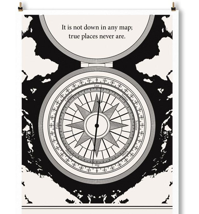 Literary Art Print- True Places
