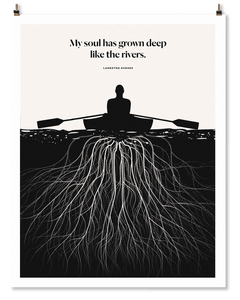 Literary Art Print- My Soul has Grown Deep