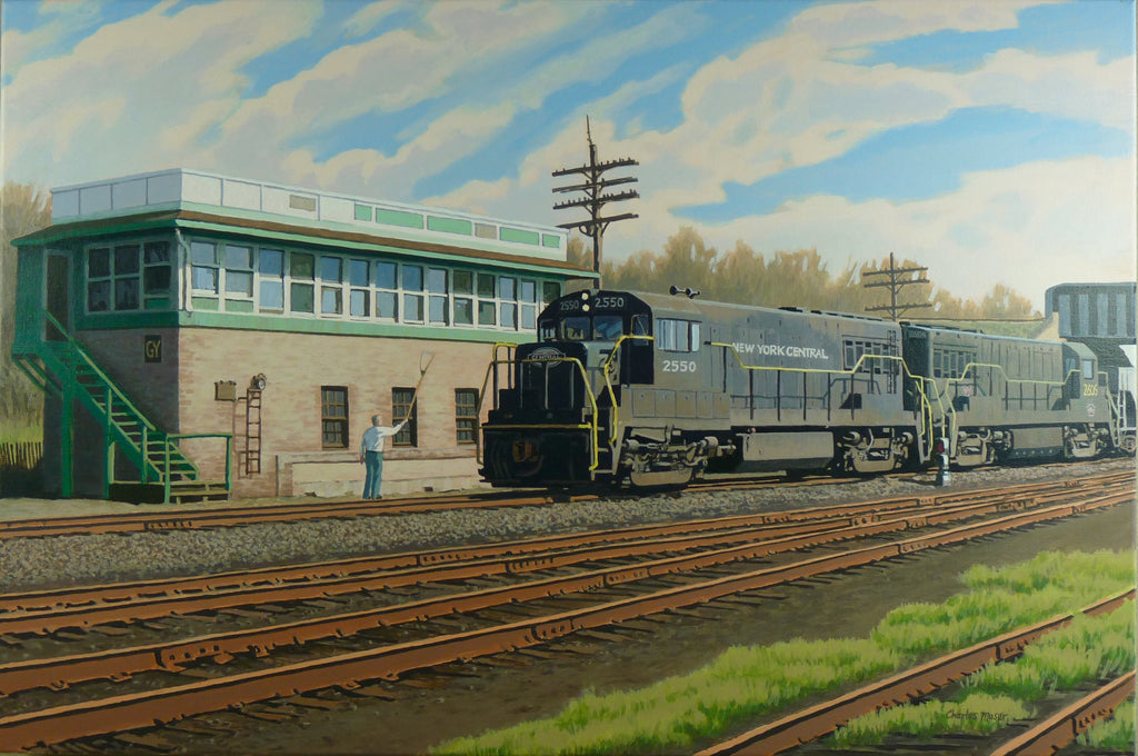 PennCentral Freight Entering Geneva, NY Yard - Print - Chaz Moser - Stomping Grounds