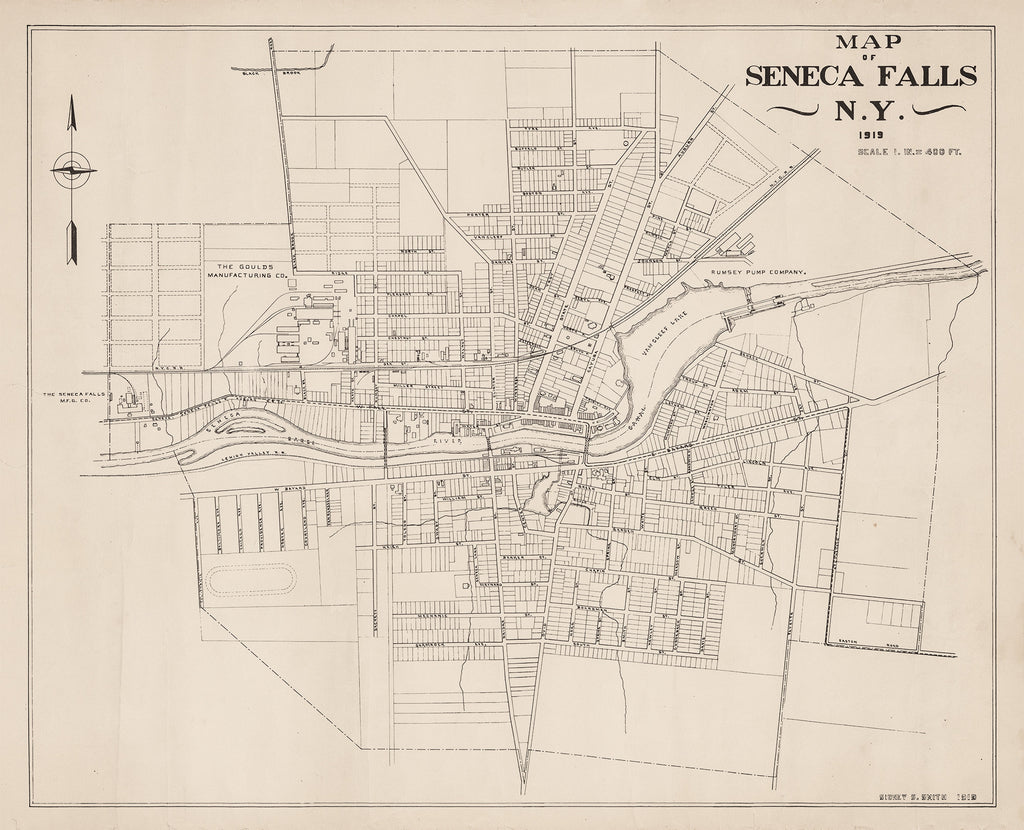 Map of Seneca Falls - 1919