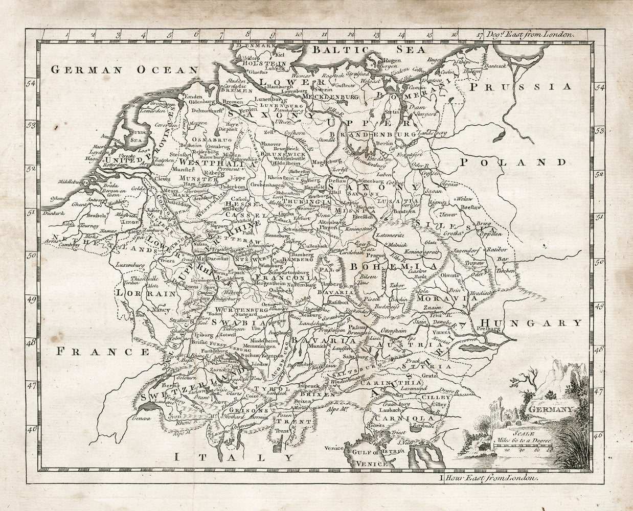 1764 Map of Germany