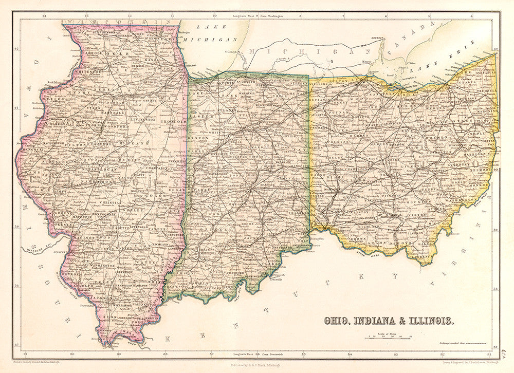Ohio, Indiana & Illinois - Print - Stomping Grounds