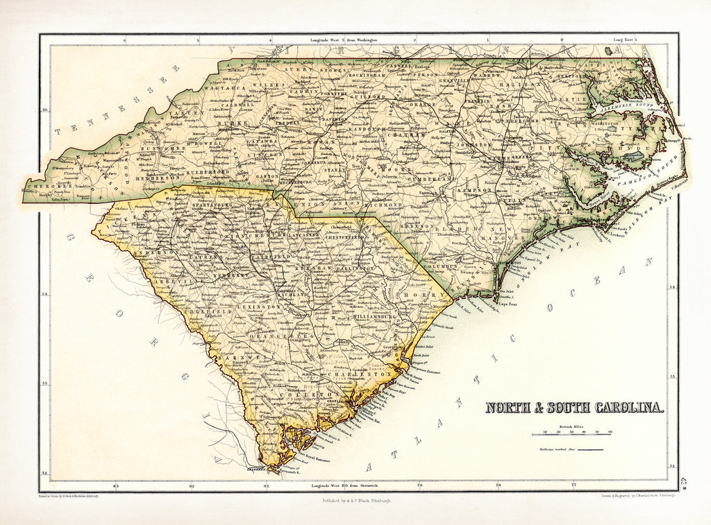 North and South Carolina - Print - Stomping Grounds