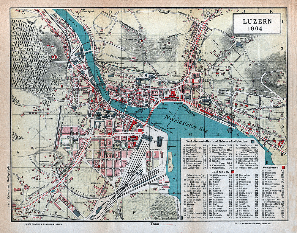 Luzern, Switzerland (1904) - Print - Stomping Grounds