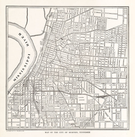 Map of The City of Memphis, Tennessee - Print - Stomping Grounds