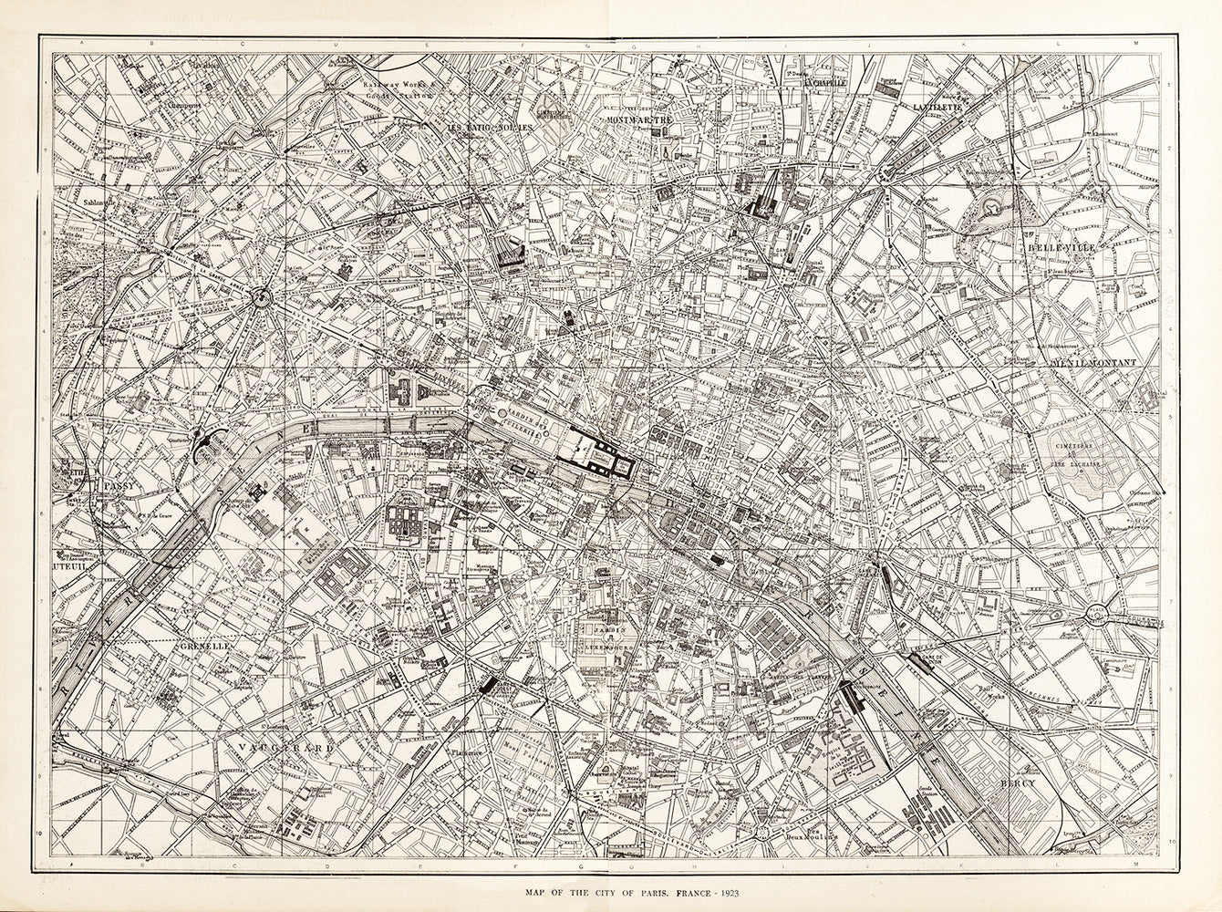 Map of The City of Paris, France - Print - Stomping Grounds