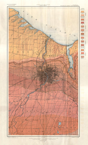 Geological Map of the Rochester and Ontario Beach Quadrangles - Print - Stomping Grounds