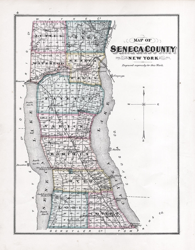 Map of Seneca County, 1876 - Print - Stomping Grounds