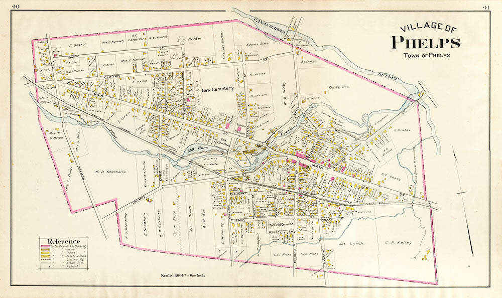 Village of Phelps - Plate Map