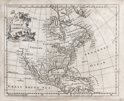 Colonial Map of North America - 1764
