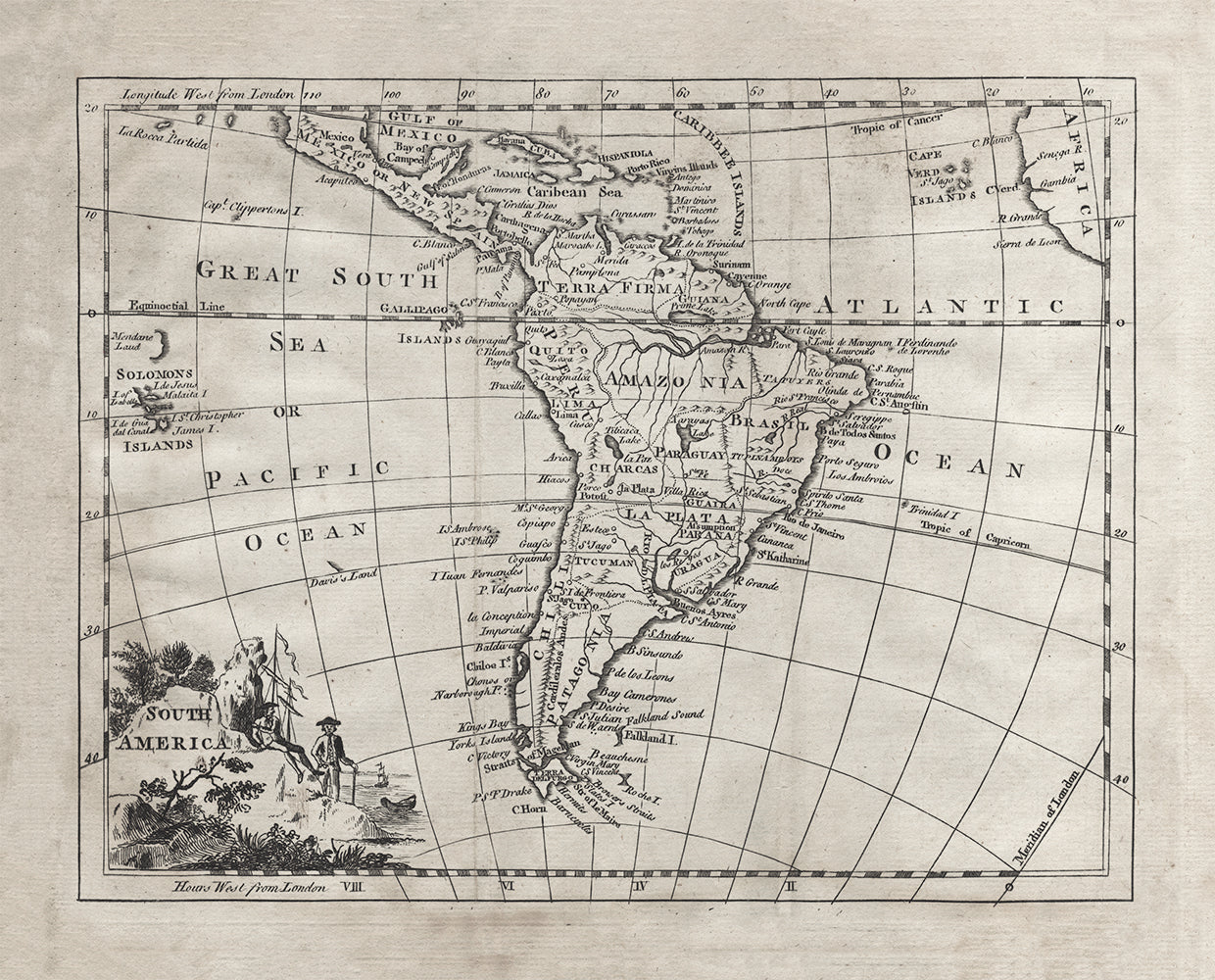 1764 Map of South America