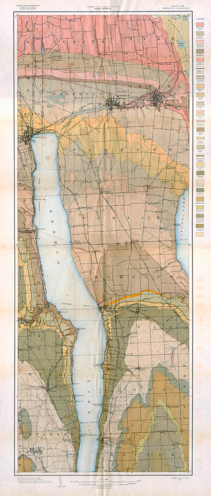 Geological Map of the Geneva – Ovid Quadrangles - Print - Stomping Grounds
