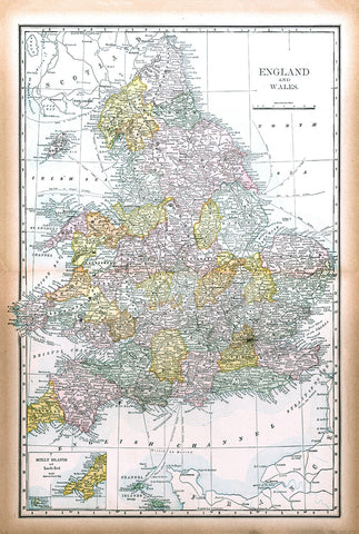 England and Wales from Cram's Modern Atlas