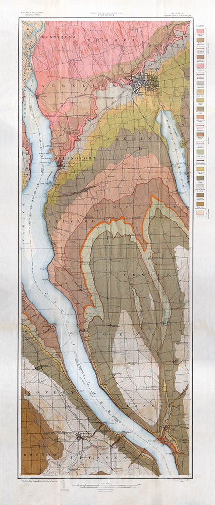 Geological Map of the Auburn – Genoa Quadrangles - Print - Stomping Grounds