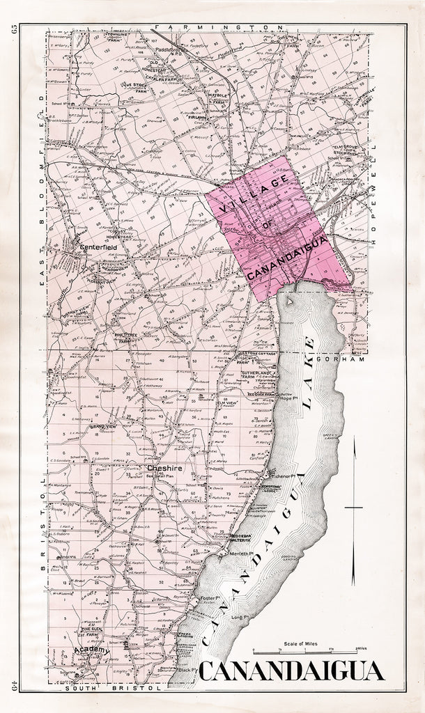 Town of Canandaigua, New York Map